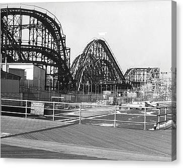 Coney Island - Roller Coaster Canvas Print by MMG Archives