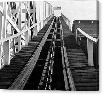 Coney Island - Roller Coaster Tracks Canvas Print by MMG Archives