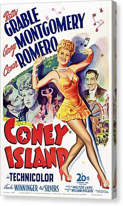 George Romero Canvas Print - Coney Island, Us Poster Art, Betty by Everett