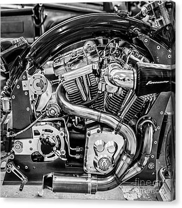 Confederate B120 Wraith Motorcycle - Square - Black And White Canvas Print by Ian Monk