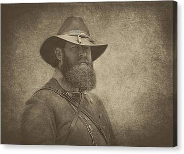 Confederate General Canvas Print by Pat Abbott