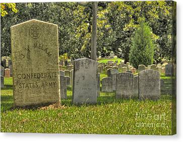Confederate Graves Canvas Print
