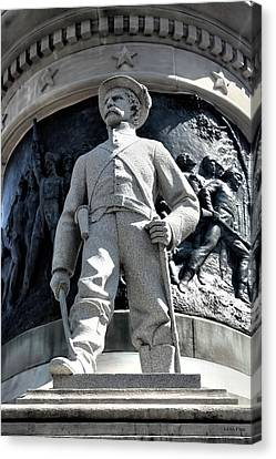 Confederate Soldier II Alabama State Capitol Canvas Print by Lesa Fine