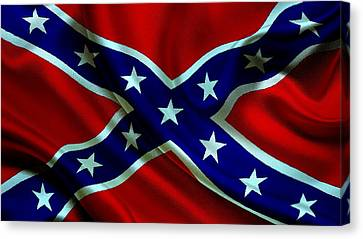 Confederate States Of America Flag Canvas Print by VRL Art