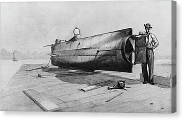 Confederate Submarine H. L. Hunley Canvas Print