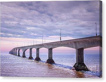 Confederation Bridge Sunset Canvas Print by Elena Elisseeva