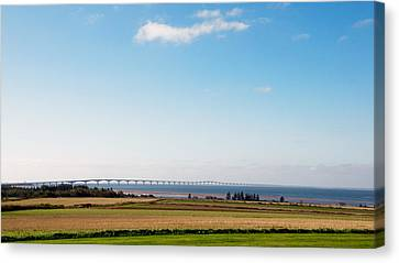 Canvas Print featuring the photograph Confederation Bridge by Trever Miller