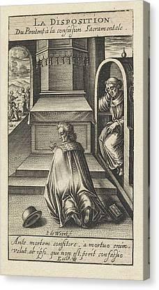 Confession, Jacob De Weert Canvas Print by Artokoloro