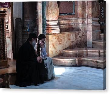 Confession Canvas Print by Sergey Simanovsky