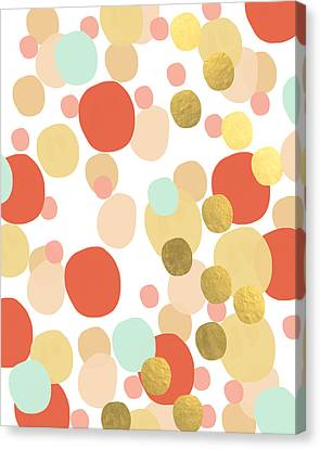 Confetti- Abstract Art Canvas Print by Linda Woods