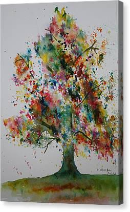 Confetti Tree Canvas Print