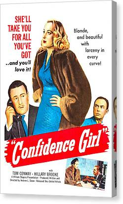 Confidence Girl, Us Poster, Middle Canvas Print by Everett
