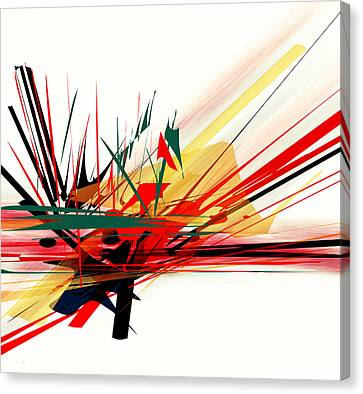 Canvas Print featuring the painting Conflict 1 by Andrew Penman