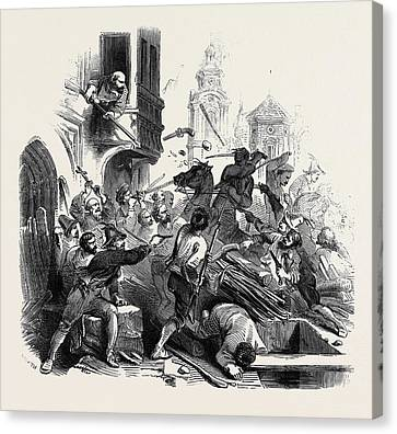 Lucerne Canvas Print - Conflict At Lucerne by English School