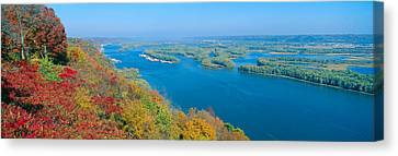 Confluence Of Mississippi And Wisconsin Canvas Print