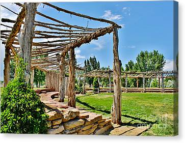 Confluence Park Delta Colorado Canvas Print by Janice Rae Pariza