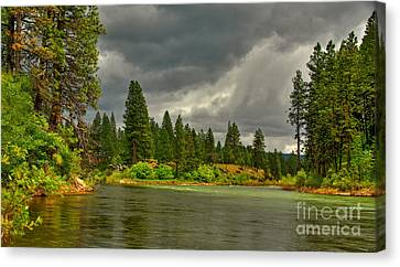 Canvas Print featuring the photograph Confluence by Sam Rosen