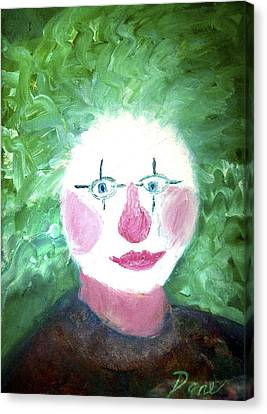 Confounded Clown Canvas Print by Dane Ann Smith Johnsen