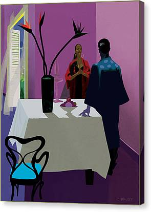 Confrontation Canvas Print by Clifford Faust