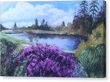 Canvas Print featuring the painting Cong Ireland by Melinda Saminski