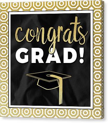 Congrats Grad! In Gold Canvas Print