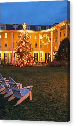Congress Hall Christmas Canvas Print by Tom Singleton