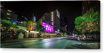 Congress Street In Downtown Austin Canvas Print