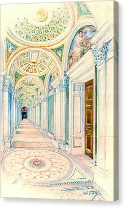 Congressional Library Washington Dc 1897 Canvas Print by Padre Art