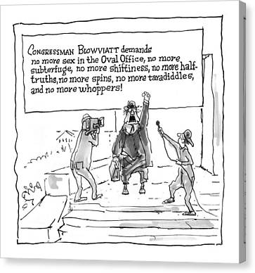 'congressman Blowviatt Demands No More Sex Canvas Print by George Booth
