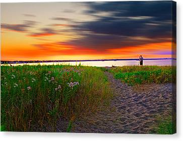 Conimicut Point Beach Rhode Island Canvas Print by Lourry Legarde