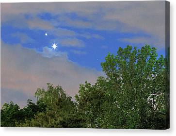 Conjunction Of Venus And Jupiter Canvas Print by Babak Tafreshi