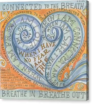 Connected To The Breath Canvas Print by Jennifer Mazzucco
