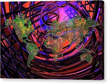 Connected World Canvas Print by Carol & Mike Werner