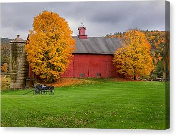Connecticut Autumn Canvas Print by Bill Wakeley