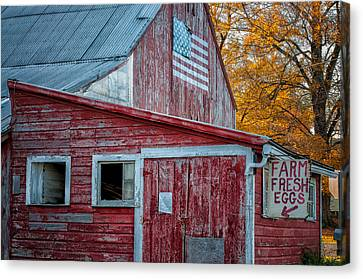 Connecticut Farmstand Canvas Print