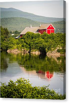 Canvas Print featuring the photograph Connecticut River Farm by Edward Fielding