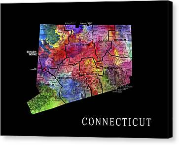 Connecticut State Canvas Print by Daniel Hagerman
