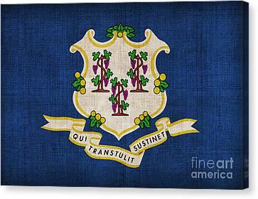 Connecticut State Flag Canvas Print by Pixel Chimp