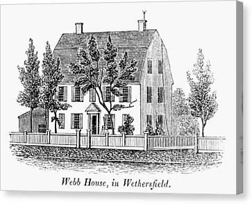 Carousel House Canvas Print - Connecticut Webb House by Granger