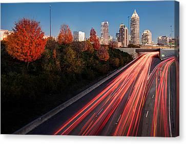 Connecting City Canvas Print by Scott Moore