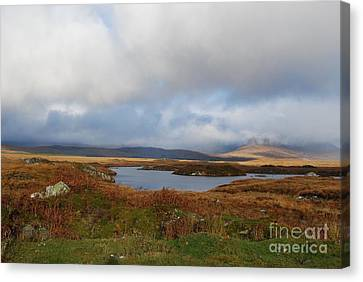 Connemara Bog Road Canvas Print