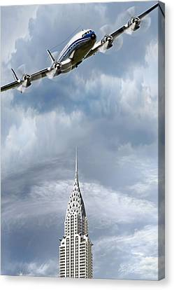 Connie And The Chrysler Canvas Print by Peter Chilelli