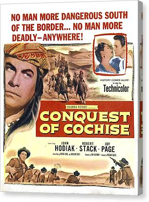 Conquest Of Cochise, Us Poster, Top Canvas Print by Everett