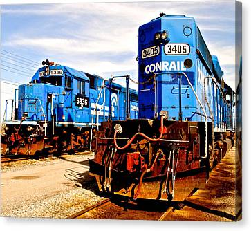 Conrail Choo Choo  Canvas Print by Frozen in Time Fine Art Photography