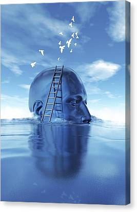 Consciousness, Conceptual Artwork Canvas Print by Science Photo Library