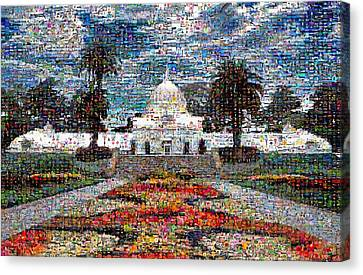 Conservatory Of Flowers Canvas Print by Wernher Krutein