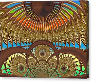 Conservatory - Sunset Canvas Print by Wendy J St Christopher