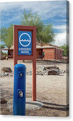 Rimrock Canvas Print - Conserve Water Sign by Jim West