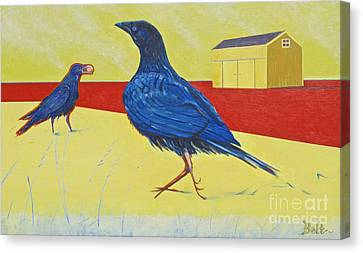 Consider The Ravens Canvas Print by Christine Belt