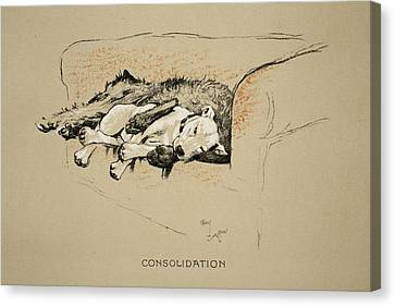 Consolation, 1930, 1st Edition Canvas Print by Cecil Charles Windsor Aldin
